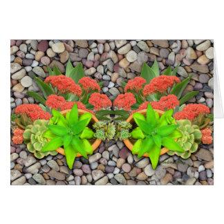 Succulents auf Gartenkieseln Karte
