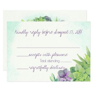 Succulents, die Watercolor UAWG Wedding sind Karte