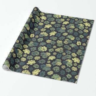 Succulents-Muster Geschenkpapier