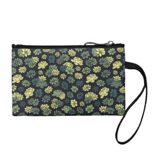 Succulents-Muster Kleingeldbörse