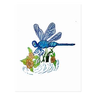 Suchen der Libelle Postkarte
