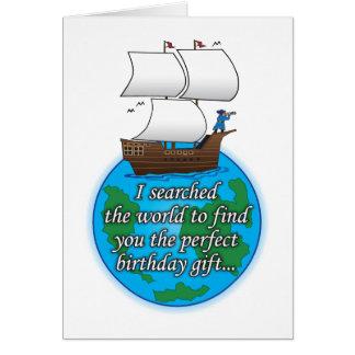 Suchen der Welthumorvollen Geburtstagskarte Karte