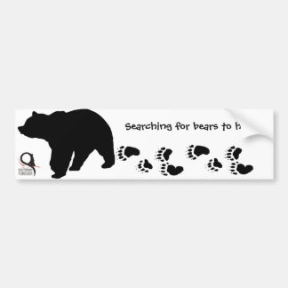 Suchen nach Bären zum zu helfen Autoaufkleber