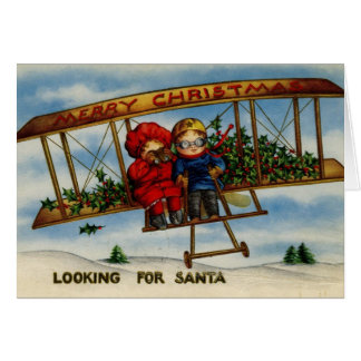 Suchen nach Vintager Weihnachtskarte Sankt Grußkarte