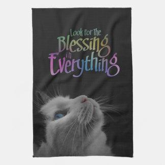 Suchen Sie nach dem Segen-Katzen-Blick-motivierend Geschirrtuch