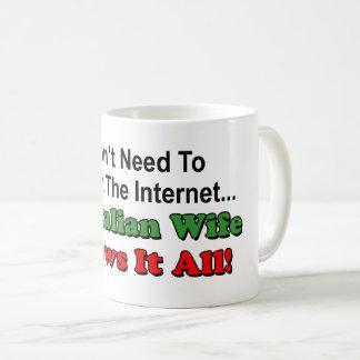 Suchen Sie nicht Internet - italienische Ehefrau Kaffeetasse