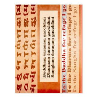 Suchender Schutz in Buddha Postkarte