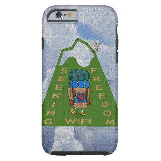 Suchender WiFi-Freiheits-Wanderer-Entwurf Tough iPhone 6 Hülle