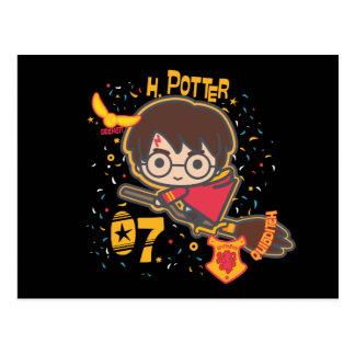 Sucher Cartoon-Harry Potter Quidditch Postkarte