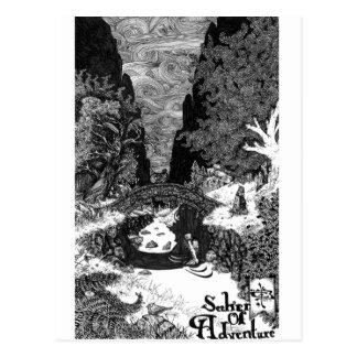 Sucher der Abenteuerfederillustration Postkarte