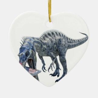 Suchomimus Dinosaurier, der einen Haifisch isst Keramik Ornament