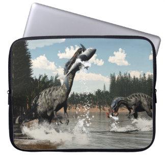 Suchomimus Dinosaurier, die Fische und Haifisch Laptop Sleeve