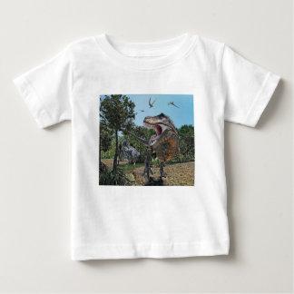 Suchomimus und Tyrannosaurus Rex Konfrontation Baby T-shirt