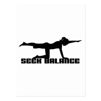 Suchvorgang-Balancen-Yoga-Geschenk Postkarte