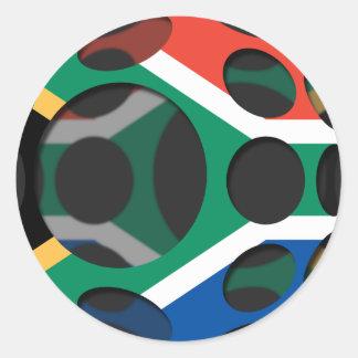 Südafrika #1 runder aufkleber