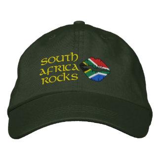 Südafrika-Felsen stickten Hut
