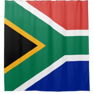 Südafrika-Flagge Duschvorhang