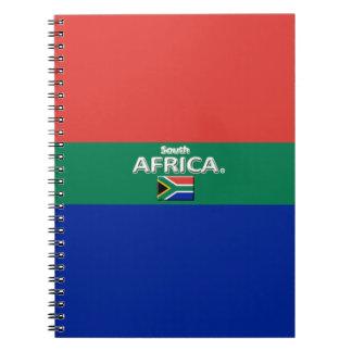 Südafrika-Flagge färbt Designer-modernes Notizbuch Notizblock