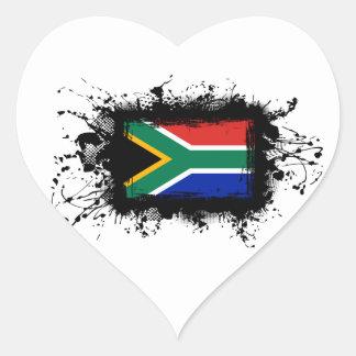 Südafrika-Flagge Herz-Aufkleber