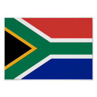 Südafrika-Flagge Poster