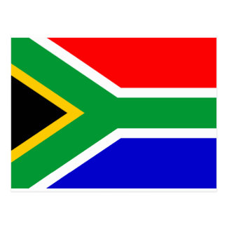 Südafrika-Flagge Postkarte