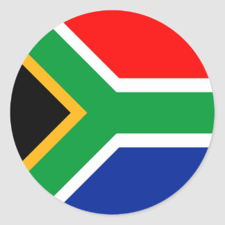 Südafrika-Flagge Runder Aufkleber