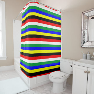 Südafrika-Flagge stripes Linien Symbol Duschvorhang