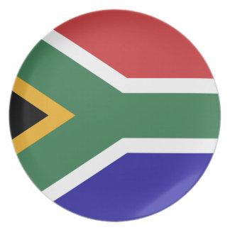 Südafrika-Flagge Teller