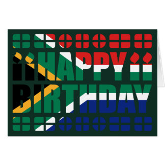 Südafrika-Flaggen-Geburtstags-Karte Karte