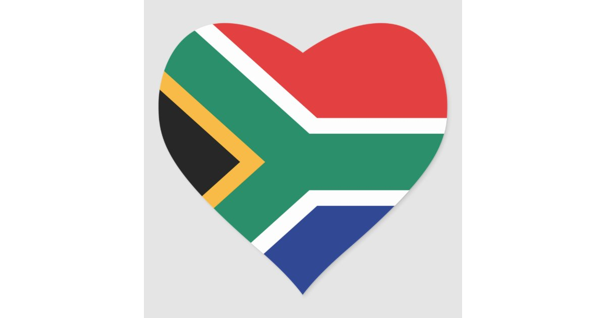Tassen South Africa : S?dafrika flaggen herz aufkleber sticker zazzle