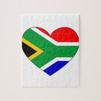 Südafrika-Flaggen-Herz Puzzle
