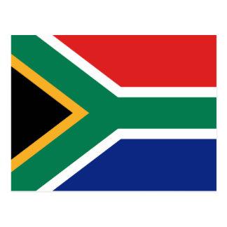 Südafrika-Flaggen-Postkarte Postkarte