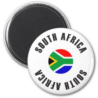 Südafrika-Flaggen-Rad Runder Magnet 5,7 Cm