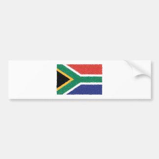 Südafrika-Flaggen-Thema Autoaufkleber