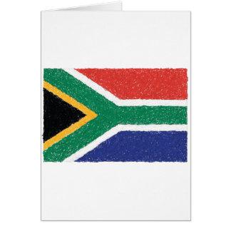 Südafrika-Flaggen-Thema Karte