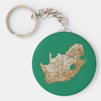 Südafrika-Karte Keychain Schlüsselanhänger