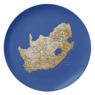 Südafrika-Karten-Platte Teller
