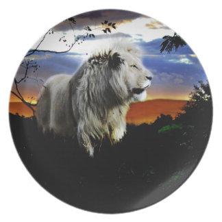 Südafrika-Löwe im Dschungel Teller