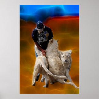 Südafrika-LöweWhisperer Poster