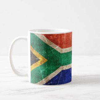 Südafrika verkratzte wVintage gealtert und Kaffeetasse