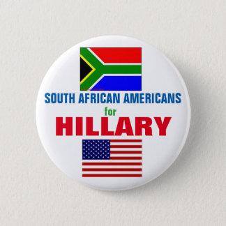 Südafrikanische Amerikaner für Hillary 2016 Runder Button 5,1 Cm