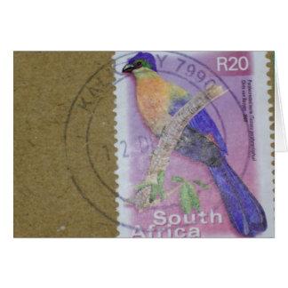 Südafrikanische Briefmarke Karte