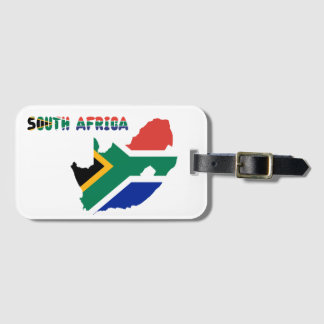 Südafrikanische Flagge Gepäckanhänger