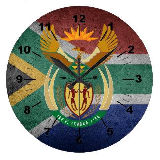 Südafrikanische Flagge Große Wanduhr