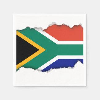 Südafrikanische Flagge Papierservietten