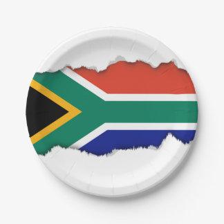 Südafrikanische Flagge Pappteller
