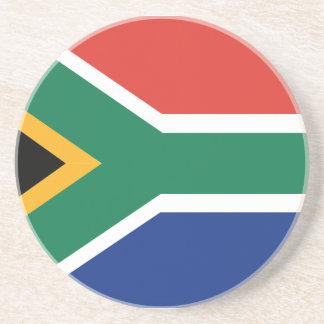 Südafrikanische Flagge Sandstein Untersetzer
