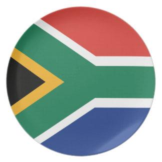 Südafrikanische Flagge Teller