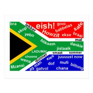 Südafrikanische Jargon-Postkarte - kundengerecht Postkarte