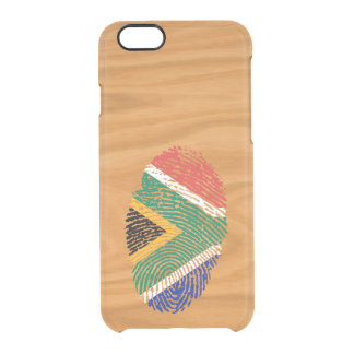 Südafrikanische Touchfingerabdruckflagge Durchsichtige iPhone 6/6S Hülle